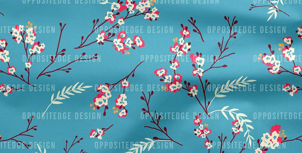 Cherry Blossom Teal - Standard License