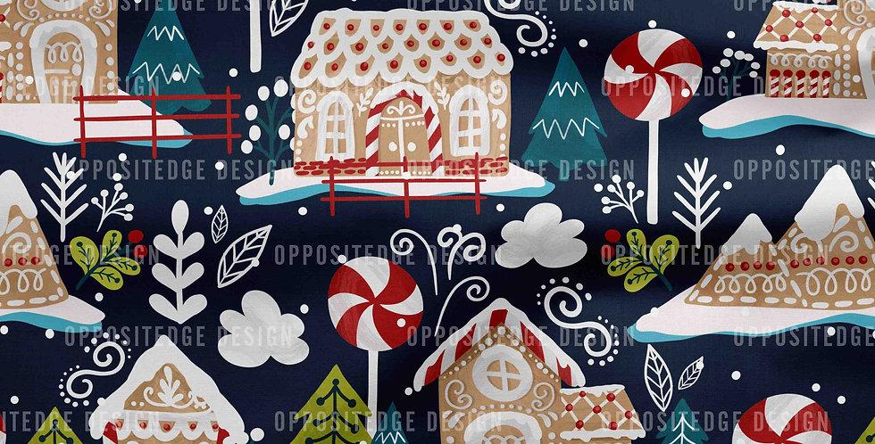 Gingerbread House Dark Blue - Standard License