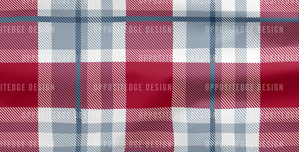 Steel Gray Red Plaid - Commercial License