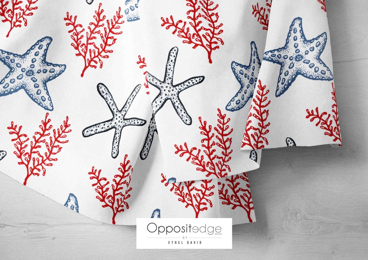 Red & Blue Starfish & Seaweeds 01.jpg