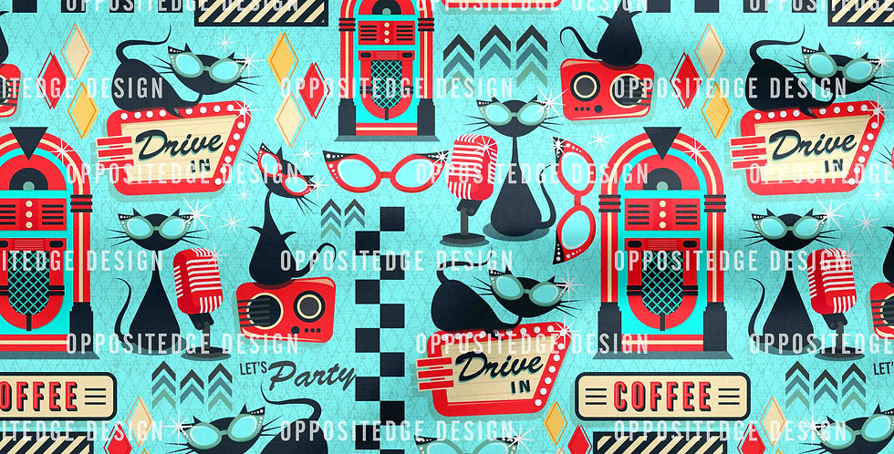 1950's Retro Kitties V02 - Standard License