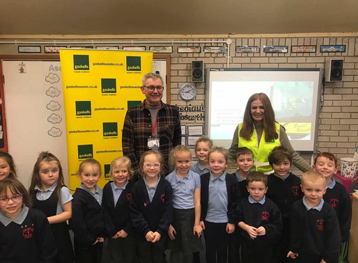 Gaskells 'litterbugs' on tour at Anglesey Schools