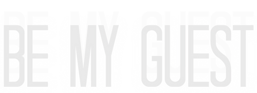 BE MY GUEST (Logo) - White - Transparent