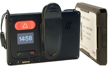 Atlas ID| Atlas Protector+| ID Card Holder with dedicated lone worker man down device, GPS, OLED Screen