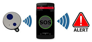 Keyfob SOS Button for any Android smarphone for lone working