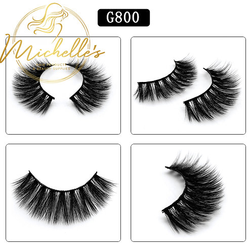 G-800 3D Mink Eyelashes Wispy Volume Strip Lash Volume