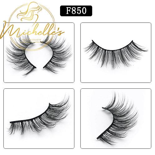 F850 Mink Eyelashes Wispy Volume Strip Lash Volume