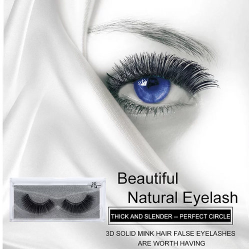 Transparent Stalk False Eyelashes 3D Multi-Layer Water Mink Y Series