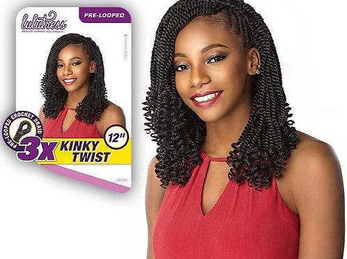 """3X Kinky Twist 12"""" Crochet Braid"""