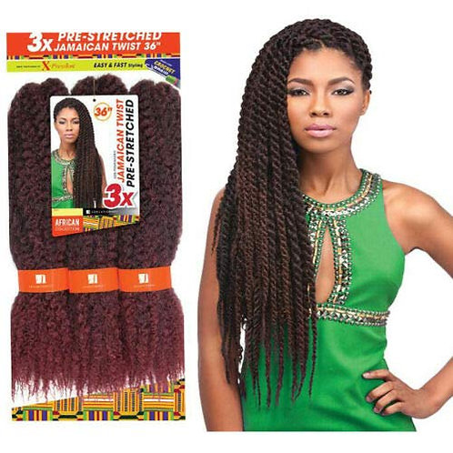 3X Jamaican Twist Crochet Braids Pre-Stretched