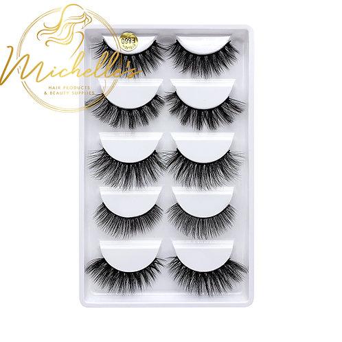 F860 3D Mink Eyelashes Wispy Volume Strip Lash Volume
