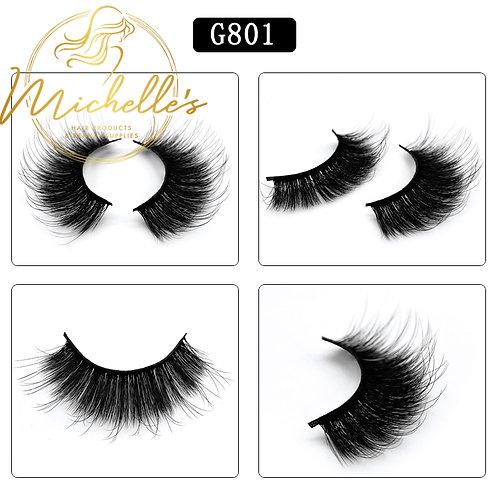G-801 3D Mink Eyelashes Wispy Volume Strip Lash Volume