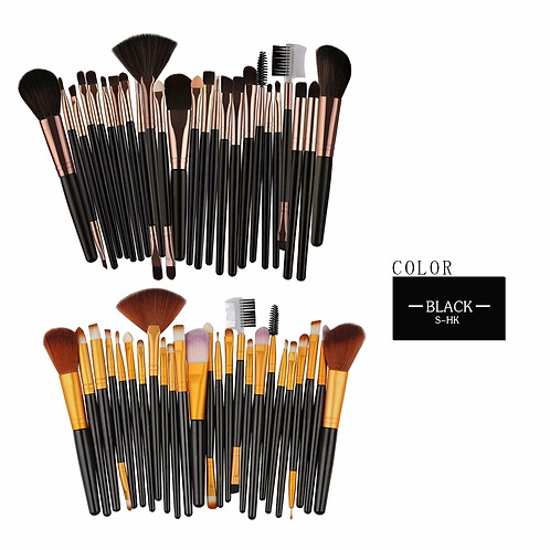 Black 26 PCS Make-Up Brush Set