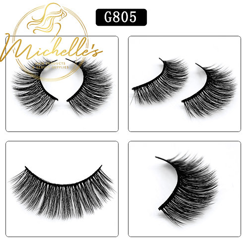 G-805 3D Mink Eyelashes Wispy Volume Strip Lash Volume