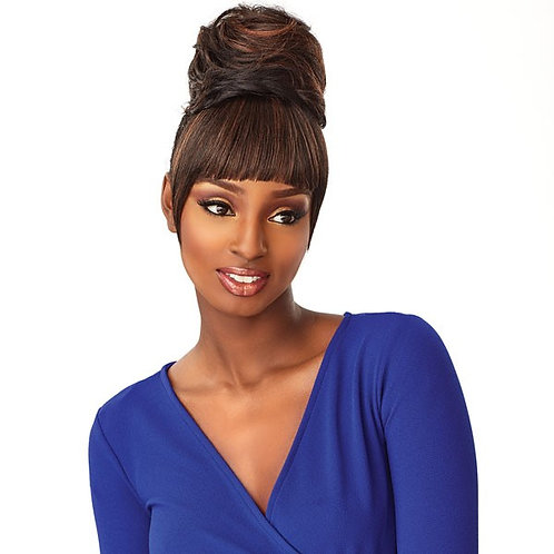 Sensationnel Synthetic Instant Bun with Bangs – ADA