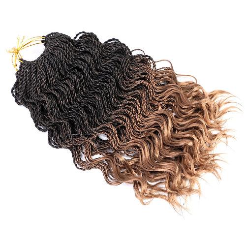 Goddess Senegal Twist Curly Tips Crochet Braids