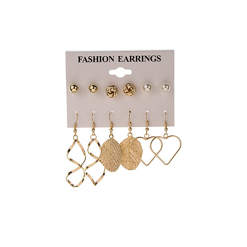 Fashion Tree Leaf Love Earrings