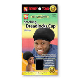 Stocking Dreadlocks Cap Unisex-Black
