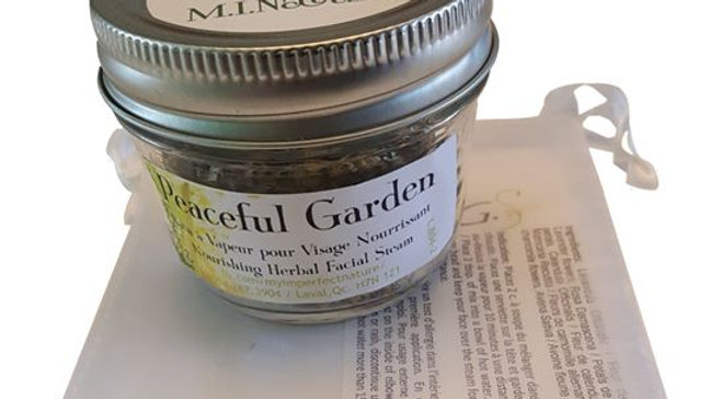 Peaceful Garden - 12 g Bain à Vapeur pour Visage à Base d'Herbe