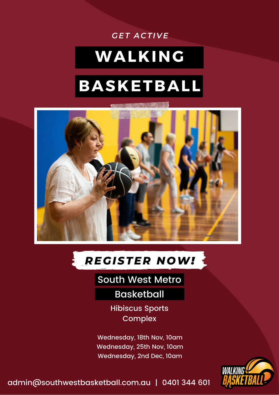 Walking Basketball is returning to Hibiscus Sports Complex, Mt Gravatt, for 3 more weeks in 2020!