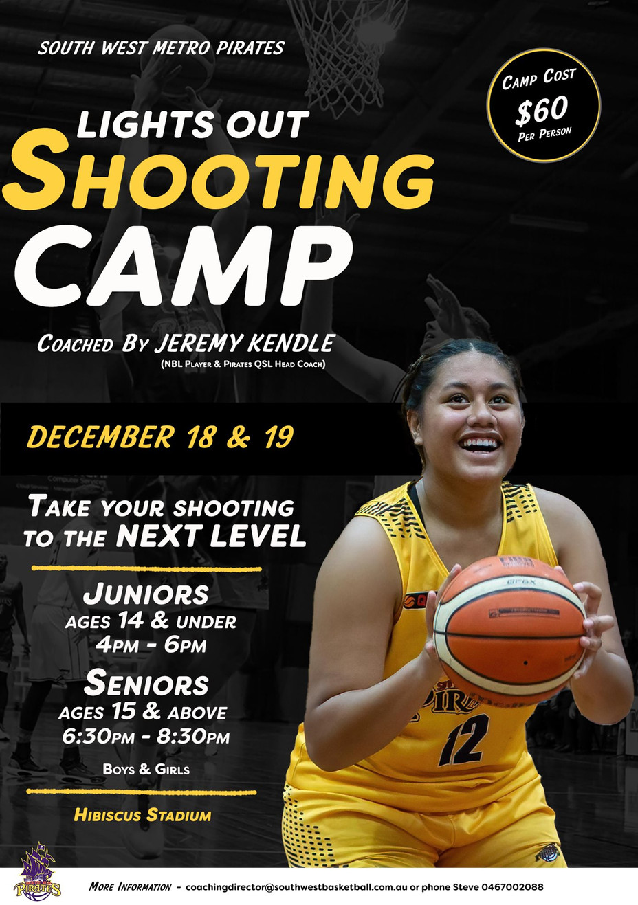 """Register now for our SWM """"Lights Out"""" Shooting Camp - 18 & 19 December 2020 at Hibiscus."""