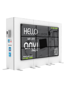 """Hand Sanitizer Dispenser - Videowall 3x3 Edition - 117""""x96"""""""