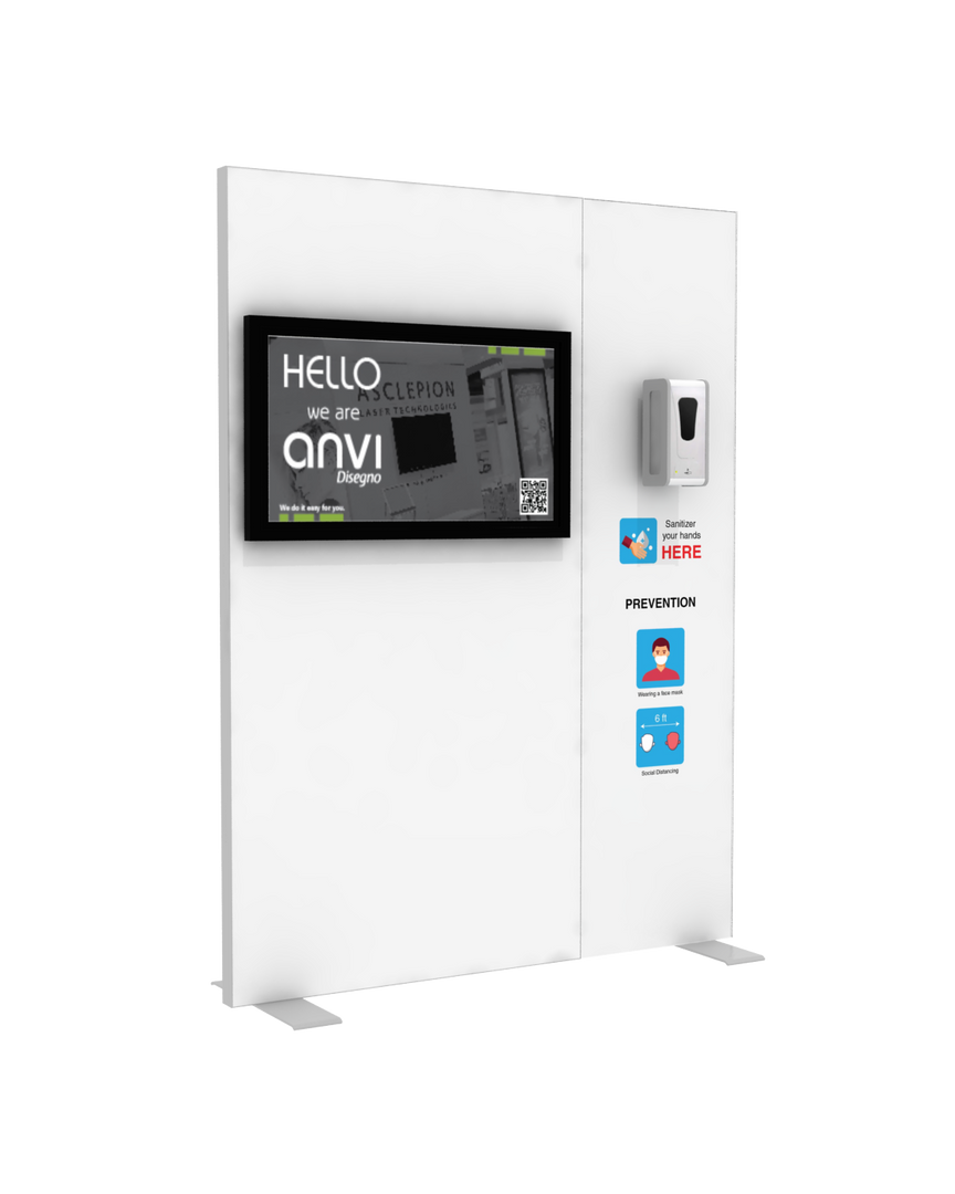 "Hand Sanitizer Dispenser - TV Edition - 58""x78"""