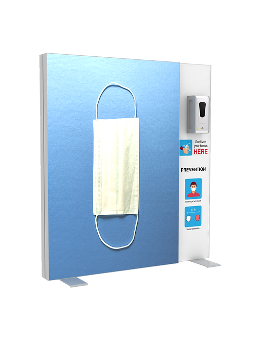 "Hand Sanitizer Dispenser - Backlit Edition - 52""x58"""