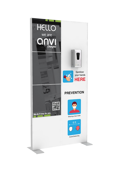 "Hand Sanitizer Dispenser - Hi-LED Edition - 39""x78"""