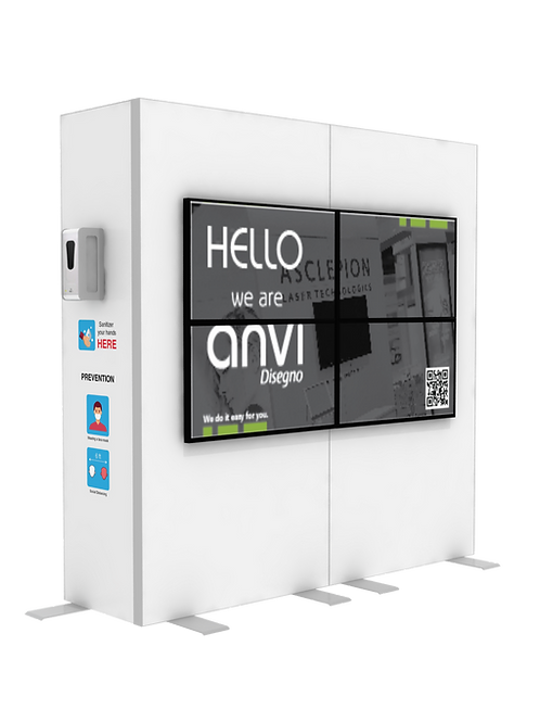 "Hand Sanitizer Dispenser - Videowall 2x2 Edition - 78""x96"""