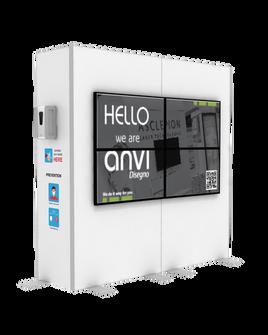 """Hand Sanitizer Dispenser - Videowall 2x2 Edition - 78""""x96"""""""