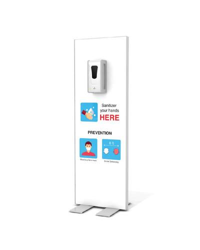 "Hand Sanitizer Dispenser - Basic Edition - 19""x58"""
