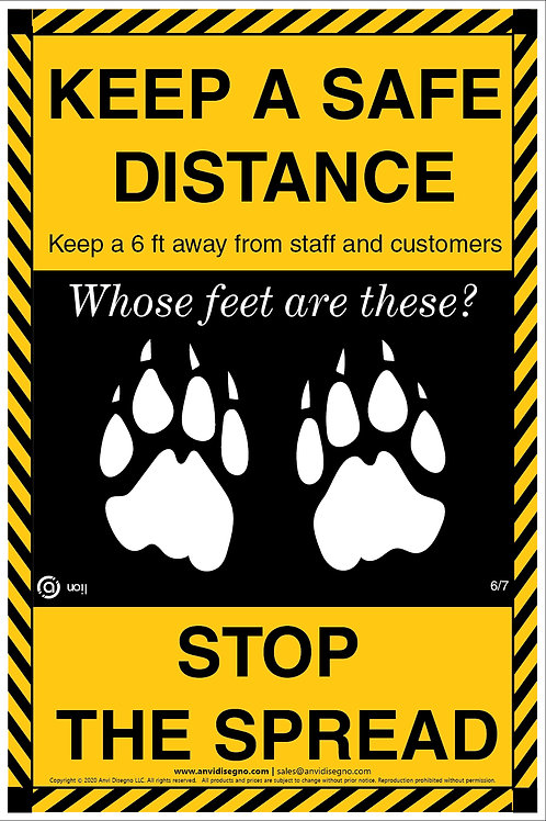 """Floor Decals - Stand Point - Trivia Collection - Animal Series - 12""""x18"""""""