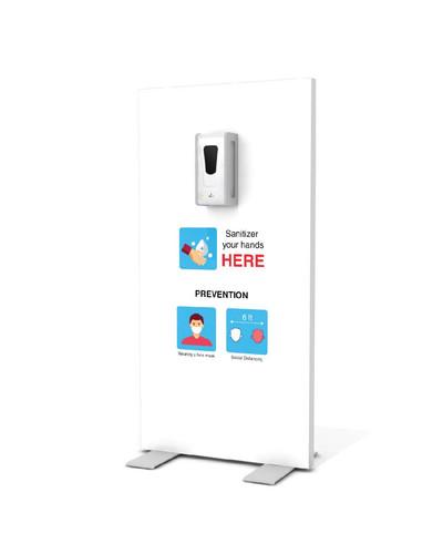 "Hand Sanitizer Dispenser - Basic Edition - 29""x58"