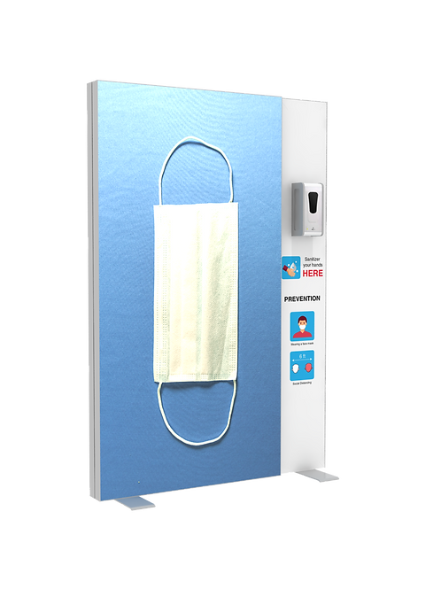 "Hand Sanitizer Dispenser - Backlit Edition - 52""x78"""