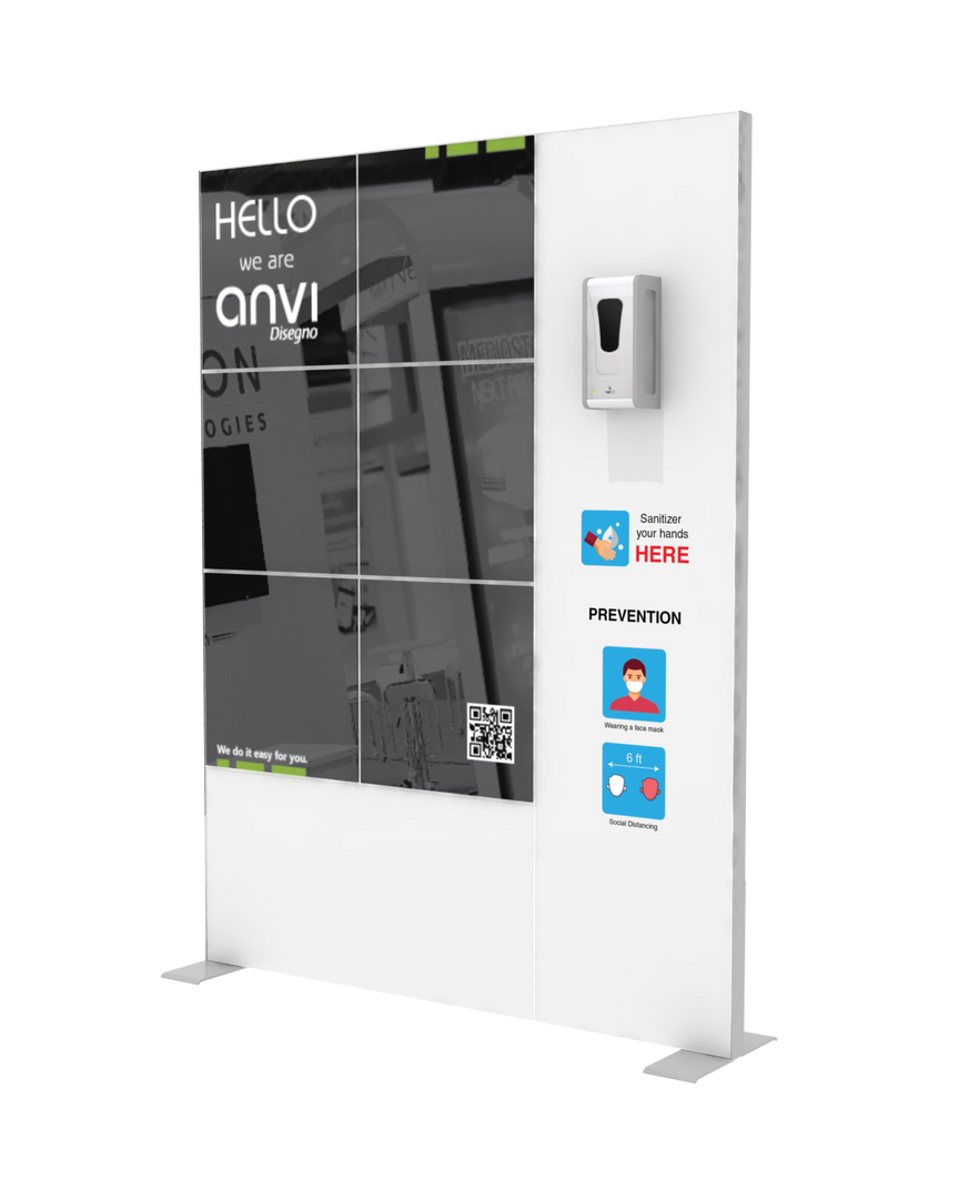 "Hand Sanitizer Dispenser - Hi-LED Edition - 58""x78"""