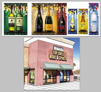 Top Shelf Liquor Windows