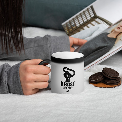 ClimbLife™ Resist Gravity Matte Black Magic Mug