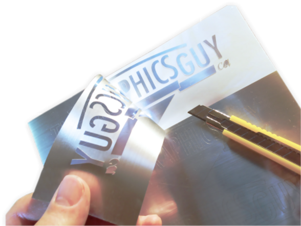 the graphics guy - weeding specialty brushed aluminum vinyl