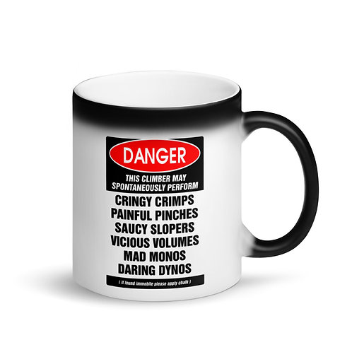 ClimbLife™ Danger Matte Black Magic Mug