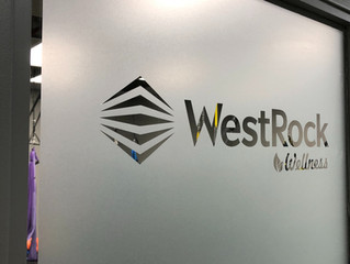 "New sign for Westrock's ""wellness"" fitness gym space"