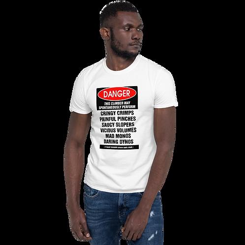 ClimbLife™ Danger Boulderer's Short-Sleeve Unisex T-Shirt