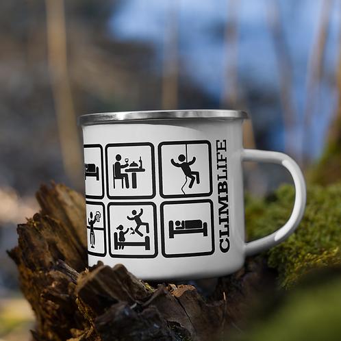 ClimbLife™ Eat | Sleep | Climb Enamel Mug