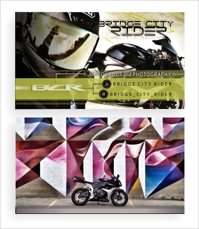 Bridge City Rider - 16.5pt Matte finish business cards by The Graphics Guy™