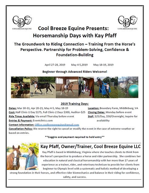 CBE Training Days Flyer 2019 -  Horseman