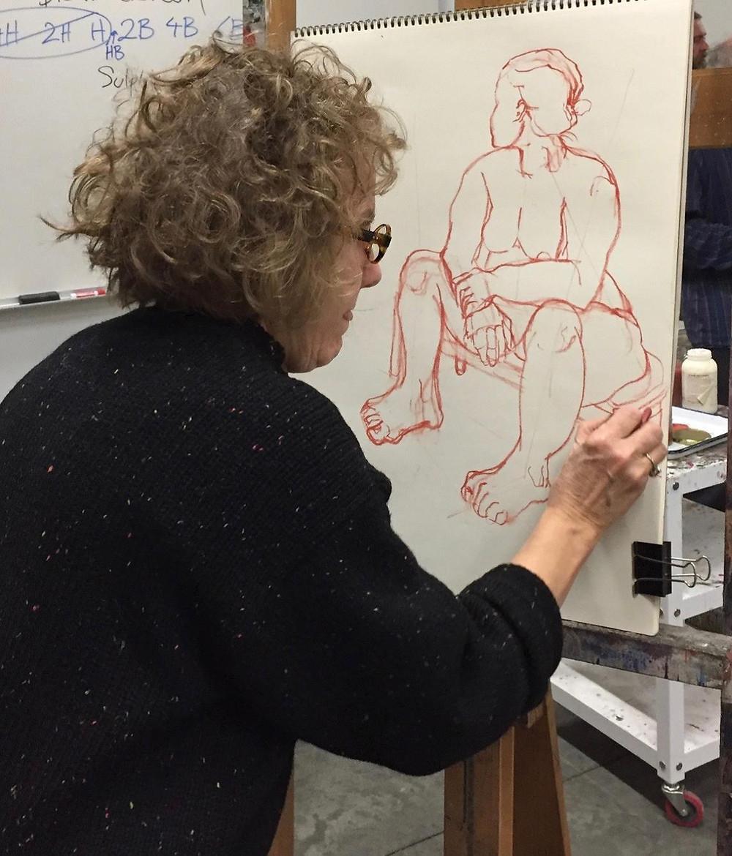 Anne Wehrley Bjork sketching