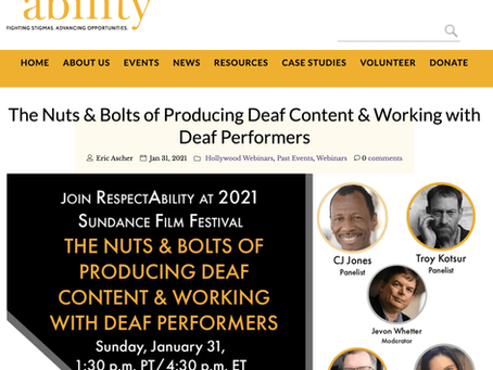 The Nuts & Bolts of Producing Deaf Content & Working with Deaf Performers.