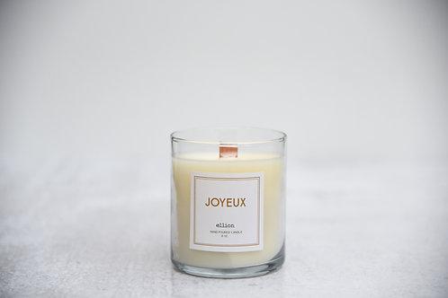 JOYEUX ellion Christmas candle wood wick tumbler - 8oz