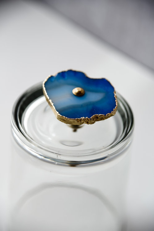 Blue agate cloche