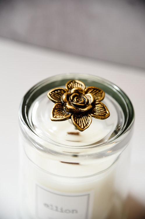 Brass flower knob cloche